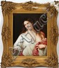 KPM HAND PAINTED PORCELAIN PLAQUE, 19TH C., 12