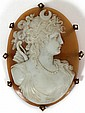 ITALIAN CARVED CAMEO BROOCH, 19TH C., H 2.5