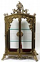 GILT BRONZE TABLETOP CURIO VITRINE, C1900, 34