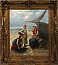 L. LAURENTY OIL ON CANVAS DUTCH SEASHORE SCENE