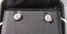 14k Gold 1/2 Carat Diamond Stud Earrings 0.7g