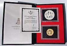 1978 Cayman Islands Six Queens Proof Coins Gold & Silver, (22k Gold, approx .5oz) (90% Silver)