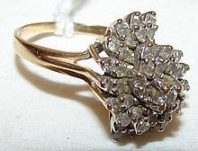 14kt Diamond Ring Size 7.5, 5.7g