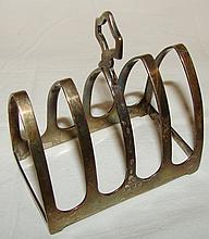 2 Vintage Toast Racks: Sterling English Toast Rack & SP Toast Rack