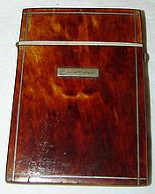 Tortoise Shell Sterling & Ivory Card Case