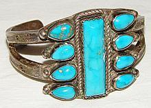 Vintage Custom Native American Turquoise Bracelet