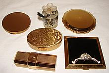 4 Vintage Compacts & 2 Perfume Bottles