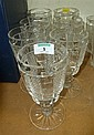 Set of seven Waterford heavy cut crystal wine