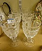 Set of six Waterford heavy cut crystal wines