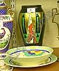 Crown Devon Art Deco vase; Royal Doulton 'Gaylee'
