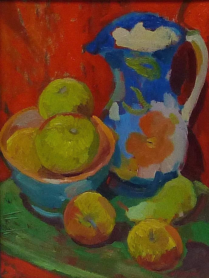 Neil Helyard (1951-): Still life, oil on canvas
