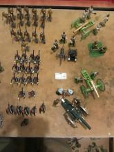 Lancer toy foot soldiers and five artillery groups