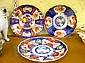 Three Japanese Imari plates, late c19th/20th