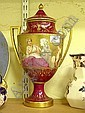 C19th fine quality hand painted Vienna urn