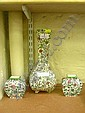 Garniture of three Royal Doulton 'Persian' vases