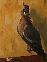 •SIR KYFFIN WILLIAMS (1918-2006) A study of a dead pigeon, oil on panel, 17