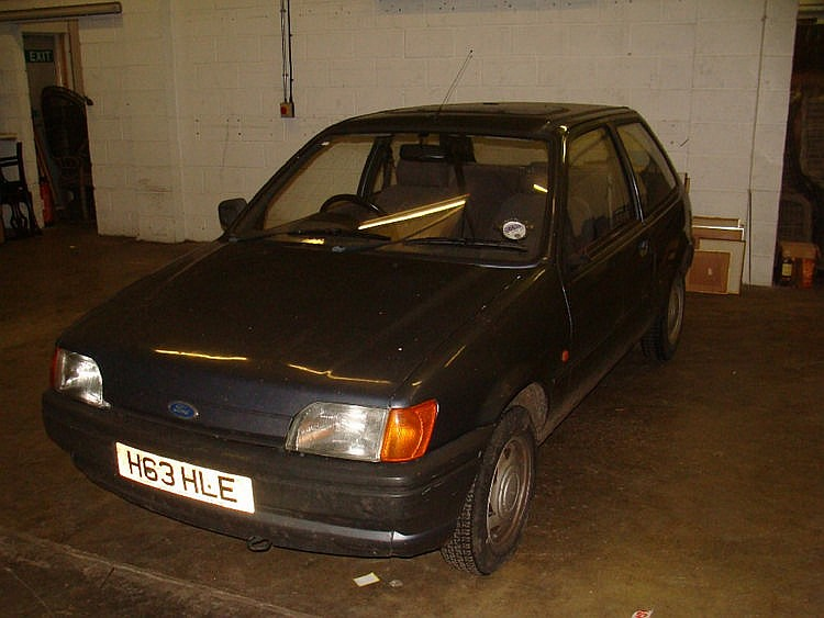 A Ford Fiesta 1.1 Popular Plus Motor Car, three