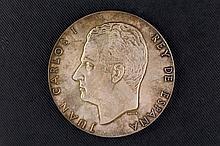 Medalla de plata conmemorativa de la Proclamación de Juan Carlos I. 22 Novi