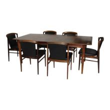 Danish Modern Dining Table and Set of 8 Chairs