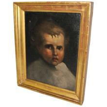 19th C. European Portrait of a Child O/C