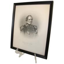 Framed Portrait of Winfield Scott