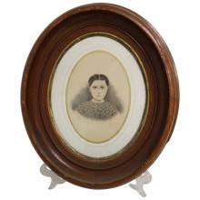Oval Portrait of a Woman