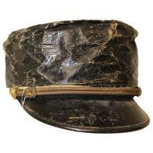Civil War Conductor's Hat with Lid Cover