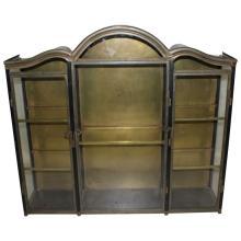 Italian 3 Door Table Top Bronze Vitrine