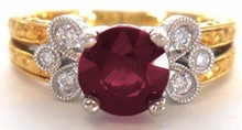 2.02ct Burmese Natural Ruby Ring