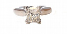1.09ct Rectangular Diamond Ring