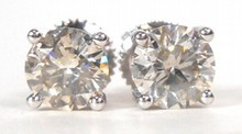 1.64ct Diamond Stud Earrings