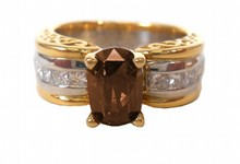 2.00ct Fancy Cognac (Dark Orangy Brown) Natural Diamond Ring