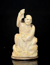 ANTIQUE CHINESE IVORY FIGURE STATUE