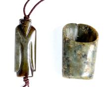 A CHINESE JADE FIGURE PENDANT