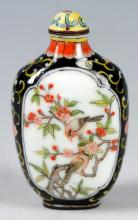 A CHINESE QIANLONG PERIOD CLOISONNE SNUFF BOTTLE