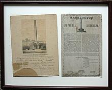 WASHINGTON NATIONAL MONUMENT BROADSIDES