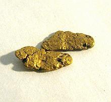 2 ALASKAN NATURAL GOLD NUGGETS 18k or BETTER