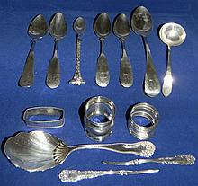 STERLING SILVER FLATWARE: Gorham, Whiton, Whiting