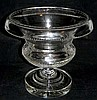 19th IRISH CUT GLASS TURNOVER GLASS URN VASE