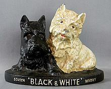 BREWERIANA AD BLACK & WHITE SCOTCH WHISKEY