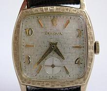 BULOVA 17 JEWELS 10k ROLLED GOLD WRIST WATCH
