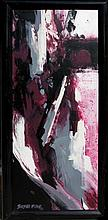 BARBARA MCCANN ABSTRACT EXPRESSIONIST OIL CANVAS