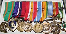 10 MILITARY MINIATURE MEDALS: Vietnam, Korea, Navy