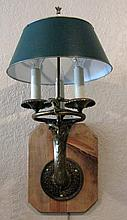 3 LIGHT FRENCH BRONZE WALL SCONCE METAL SHADE