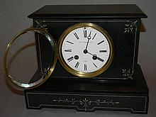 BLACK SLATE KENNARD & CO. & S. MARTI MANTLE CLOCK