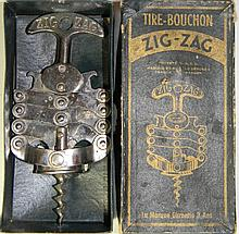 VINTAGE ZIG-ZAG TIRE-BOUCHON FRENCH CORKSCREW