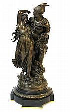 JEAN LOUIS GREGOIRE BRONZE PERSEUS AND ANDROMEDA