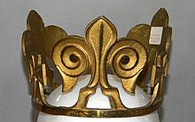 FRENCH ORMOLU METAL CROWN POSSIBLY FROM RELIQUARY