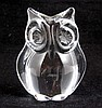 Daum French Crystal Owl