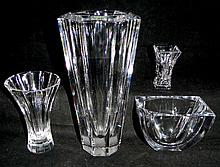 4 Crystal Vases Orrefors Waterford & Rogaska